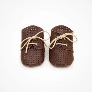 Chaussures Lou marron/ajourées étoiles