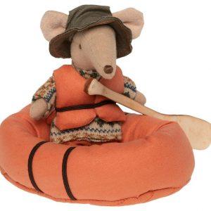 Canoë de rafting pour souris