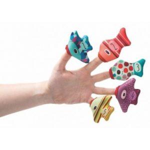 marionnette à doigts poisson