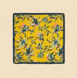 petit carré de soie amaranta solaire
