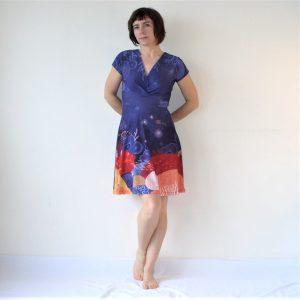 robe col croisé corail